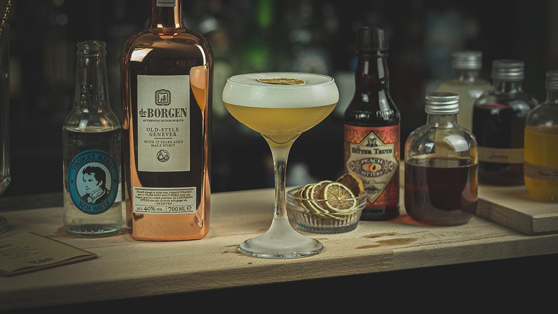 Genever Cocktail süß sauer: Der Old Style Fizz