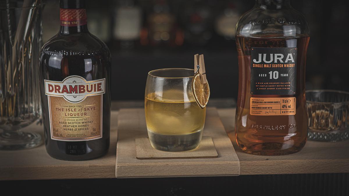Drambuie Whisky Likör und Scotch: Der Rusty Nail